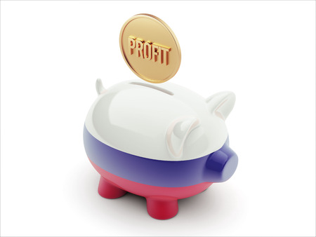 profitability: Russia High Resolution Profit Concept High Resolution Piggy Concept