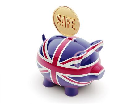 United Kingdom High Resolution Safe Concept High Resolution Piggy Concept photo