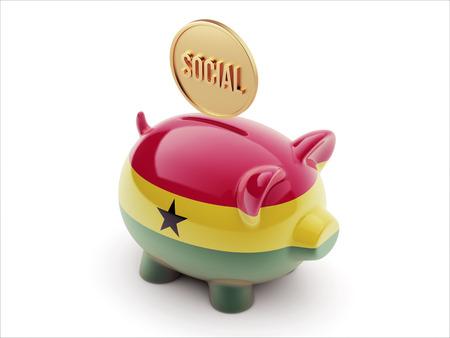 societal: Ghana High Resolution Social Concept High Resolution Piggy Concept Stock Photo