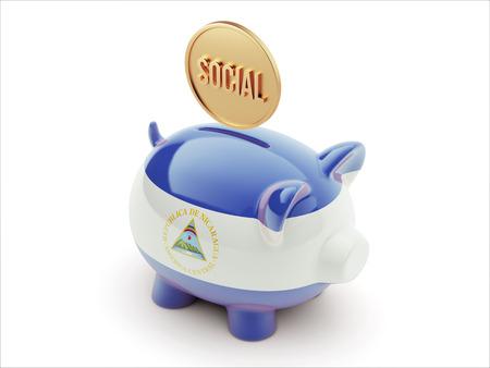 societal: Nicaragua High Resolution Social Concept High Resolution Piggy Concept