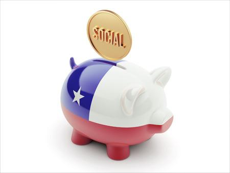convivial: Chile High Resolution Social Concept High Resolution Piggy Concept Stock Photo