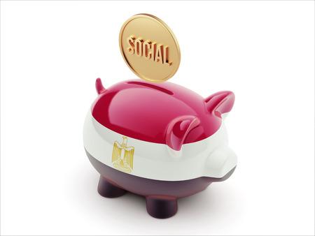 societal: Egypt High Resolution Social Concept High Resolution Piggy Concept