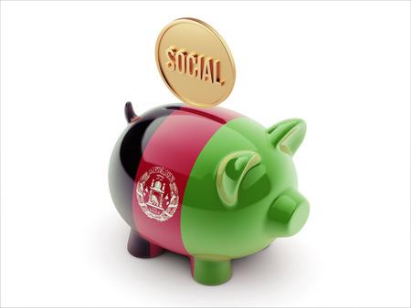 societal: Afghanistan  High Resolution Social Concept High Resolution Piggy Concept