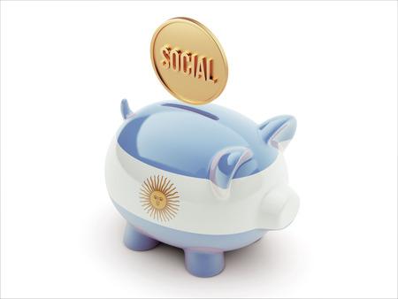 societal: Argentina High Resolution Social Concept High Resolution Piggy Concept
