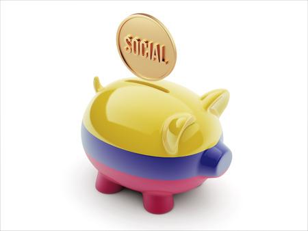societal: Colombia High Resolution Social Concept High Resolution Piggy Concept Stock Photo