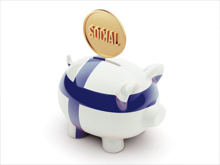 societal: Finland High Resolution Social Concept High Resolution Piggy Concept
