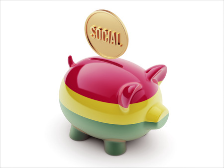 societal: Bolivia High Resolution Social Concept High Resolution Piggy Concept