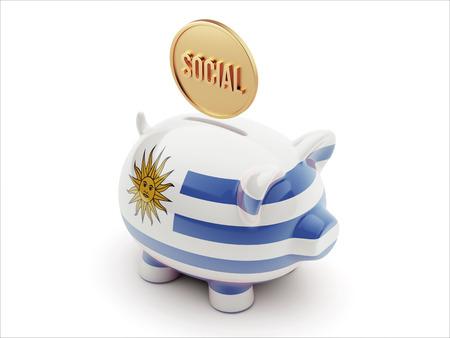 societal: Uruguay High Resolution Social Concept High Resolution Piggy Concept