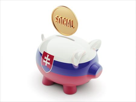 convivial: Slovakia High Resolution Social Concept High Resolution Piggy Concept