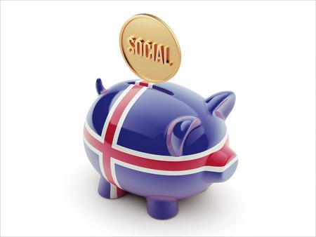 societal: Iceland High Resolution Social Concept High Resolution Piggy Concept Stock Photo