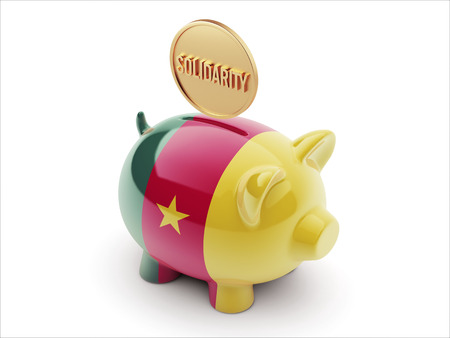 african solidarity: High Resolution Cameroon Piggy Concept