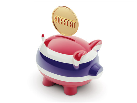 Thailand High Resolution Support Concept High Resolution Piggy Concept photo