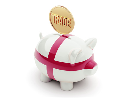 England High Resolution Trade Concept High Resolution Piggy Concept photo