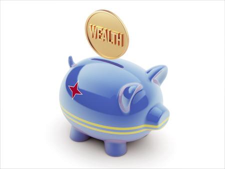 Aruba High Resolution Wealth Concept High Resolution Piggy Concept Stock Photo