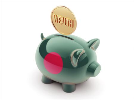 Bangladesh High Resolution Wealth Concept High Resolution Piggy Concept Stock Photo