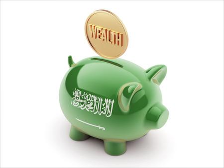 Saudi Arabia High Resolution Wealth Concept High Resolution Piggy Concept
