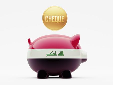 iraq money: Iraq High Resolution Cheque Concept Stock Photo
