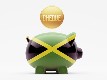 engravings: Jamaica High Resolution Cheque Concept