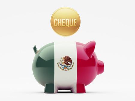 Mexico  High Resolution Cheque Concept photo