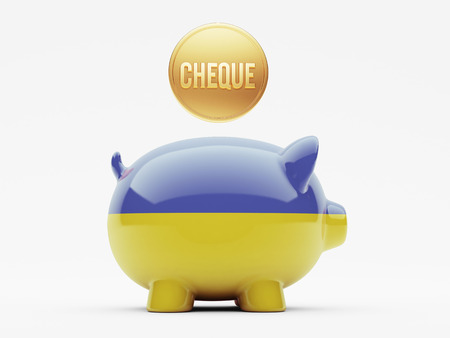 engravings: Ukraine High Resolution Cheque Concept Stock Photo