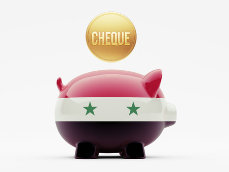 engravings: Syria High Resolution Cheque Concept