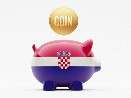 Croatia  High Resolution Coin Concept photo