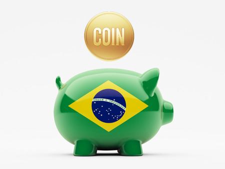 Brazil High Resolution Coin Concept photo