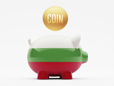 Bulgaria High Resolution Coin Concept photo