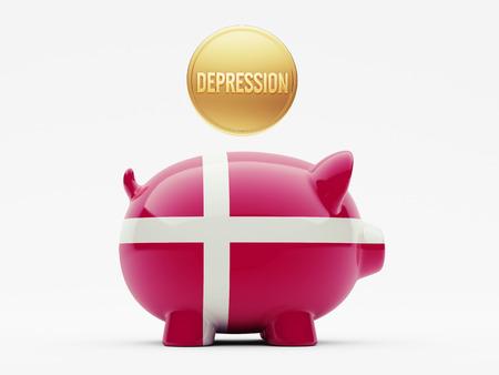 collapsing: Denmark High Resolution Depression Concept
