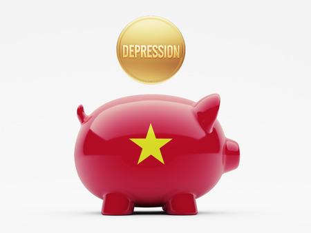 collapsing: Vietnam High Resolution Depression Concept