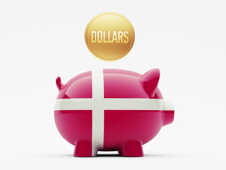 Denmark High Resolution Dollars Concept Stock Photo