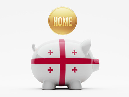 owner money: Georgia High Resolution Home Concept Stock Photo