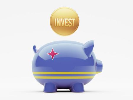 invest: Aruba High Resolution Invest Concept Stock Photo