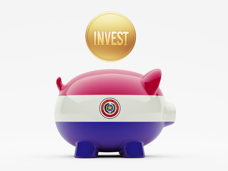 strategist: Paraguay High Resolution Invest Concept Stock Photo