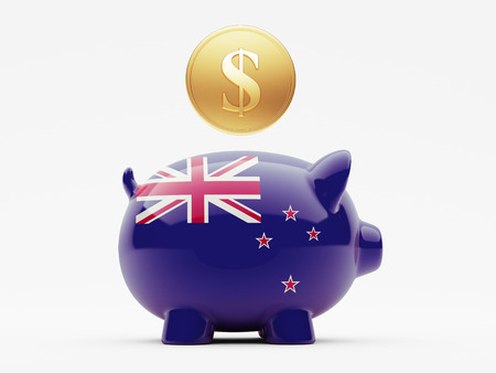 new zealand word: New Zealand High Resolution Money Concept Stock Photo