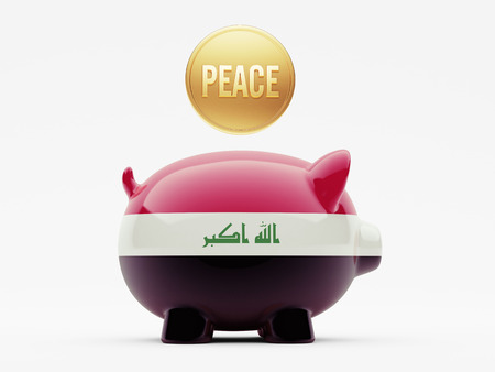 iraq money: Iraq High Resolution Peace Concept Stock Photo
