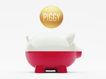 Poland High Resolution Piggy Concept photo