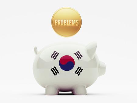 rectify: Corea del Sud ad alta risoluzione Piggy Concetto Archivio Fotografico