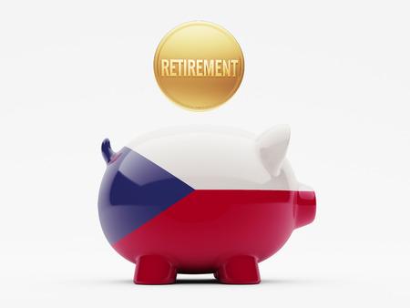 czech republic coin: Czech Republic High Resolution Retirement Concept Stock Photo
