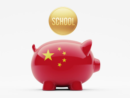 China High Resolution School Concept photo