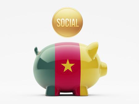 societal: High Resolution Cameroon Piggy Concept