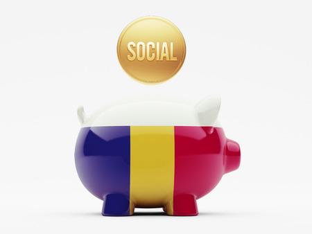 societal: Romania High Resolution Social Concept