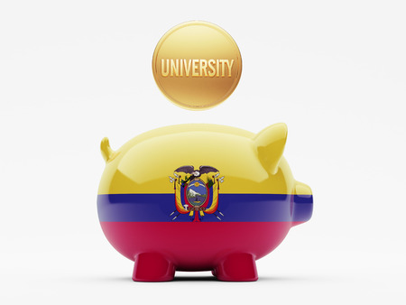 graduate asian: Ecuador High Resolution Piggy Concept