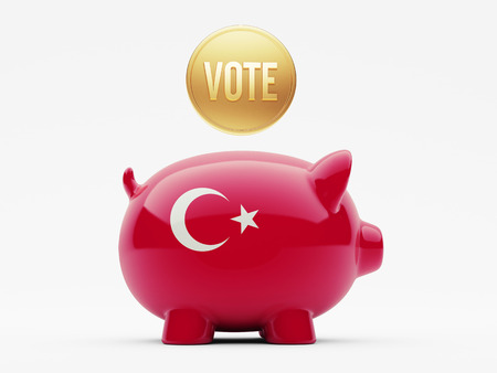 Turkey High Resolution Vote Concept Stock Photo