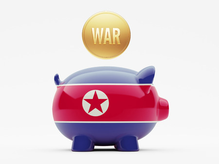 tussle: North Korea High Resolution War Concept Stock Photo