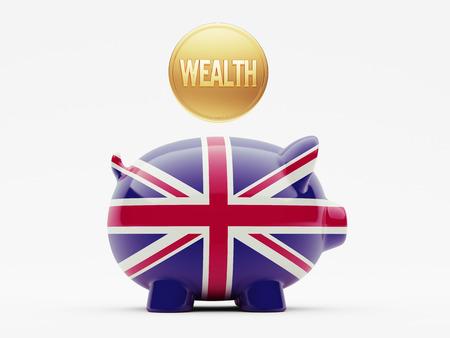 United Kingdom High Resolution Wealth Concept