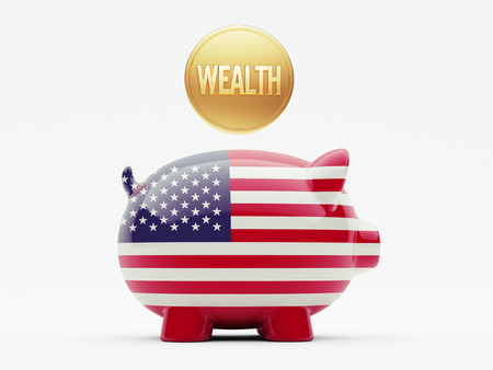 United States High Resolution Wealth Concept