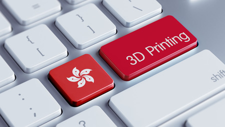 three dimensions: Hong Kong High Resolution 3d Printing Concept Stock Photo