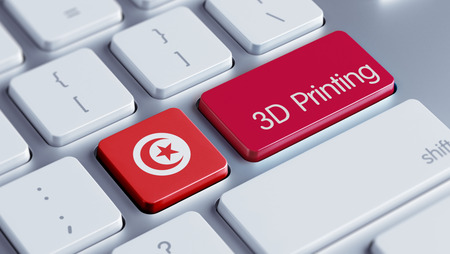 tunisie: Tunisia High Resolution 3d Printing Concept