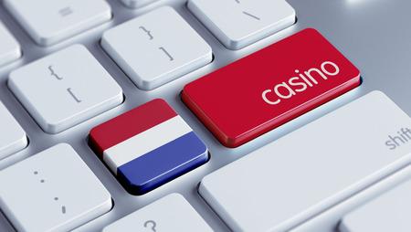 Nederland met hoge resolutie Casino Concept Stockfoto
